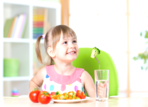 In-home child care providers are reimbursed for serving healthy meals and snacks.