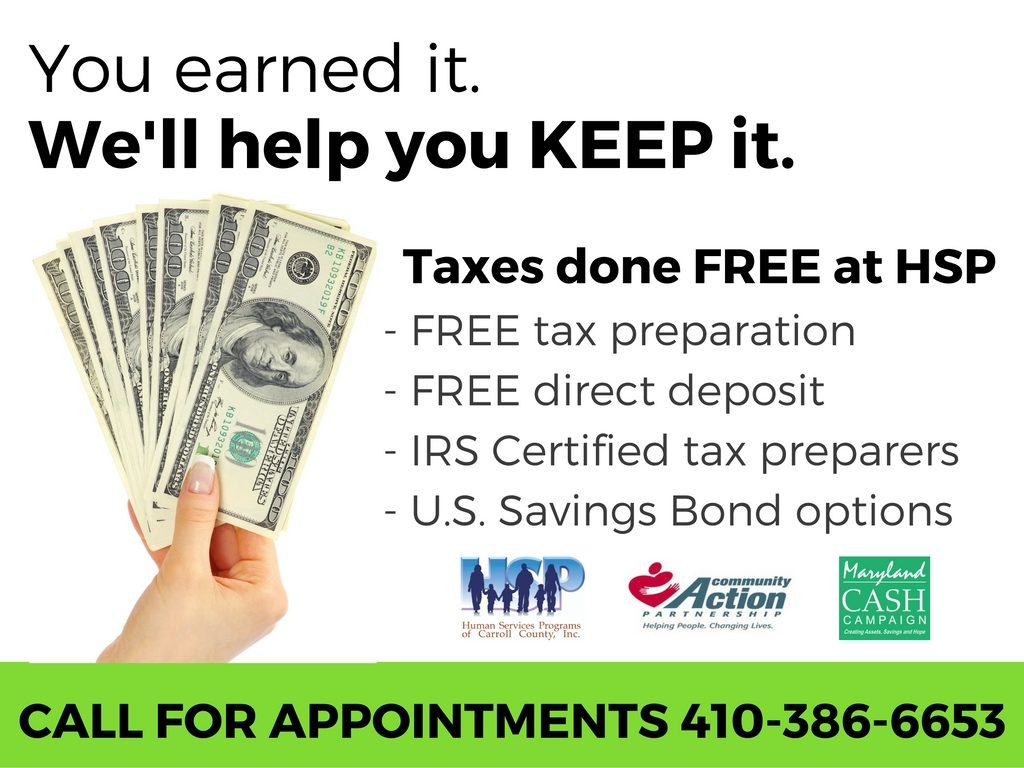 VITA Free Tax Preparation - Human Services Programs of Carroll County
